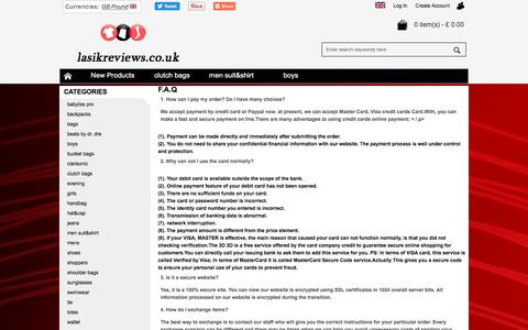 Screenshot of FAQ Page lasikreviews.co.uk - F.A.Q - captured Feb. 21, 2018