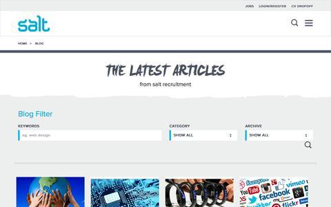 Screenshot of Blog welovesalt.com - Blog  | Salt Recruitment - captured Oct. 2, 2015