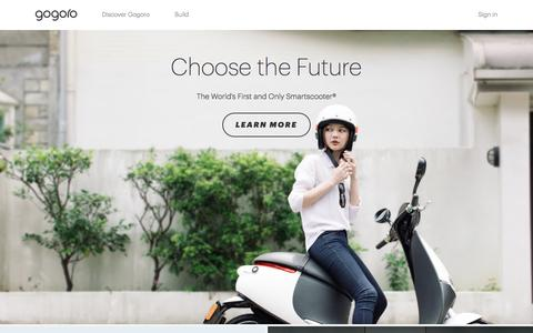 Screenshot of Home Page gogoro.com - Gogoro – Just another WordPress site - captured May 4, 2016