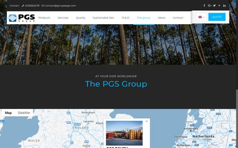 Screenshot of Locations Page groupepgs.com - Locations - Groupe PGS - captured Oct. 21, 2018