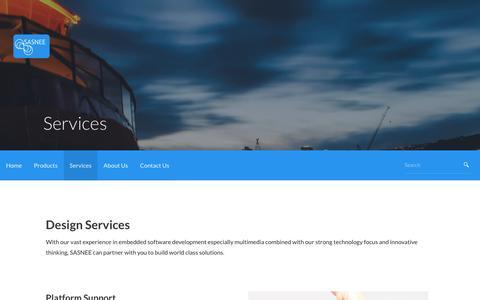 Screenshot of Services Page sasnee.com - Services – SASNEE Technologies - captured Nov. 19, 2016
