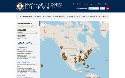 Screenshot of Locations Page nmcrs.org - Locations | NMCRS - captured Oct. 26, 2014