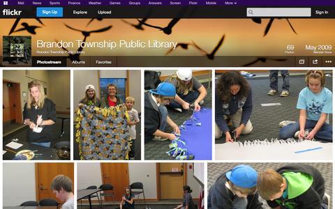 Screenshot of Flickr Page flickr.com - Flickr: Brandon Township Public Library's Photostream - captured Oct. 23, 2014