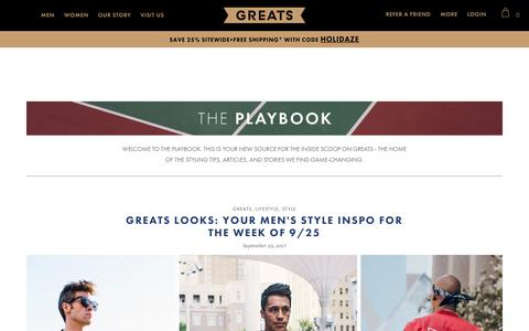 The Playbook | Greats