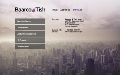 Screenshot of Contact Page baarcotish.sk - CONTACT - captured Oct. 5, 2014