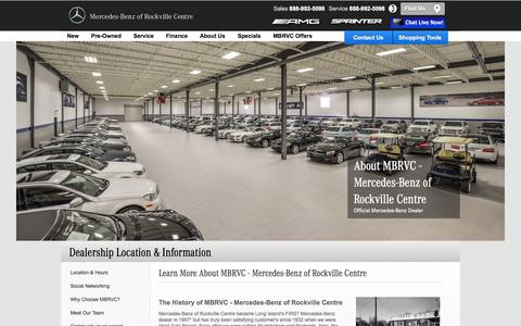 Screenshot of About Page mbrvc.com - About MBRVC: Long Island's First Mercedes-Benz® Dealer - captured Oct. 27, 2014