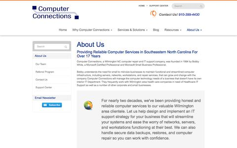 Screenshot of About Page go-cci.com - About Us - Wilmington, Leland, Hampstead | Computer Connections, Inc. - captured Aug. 19, 2017