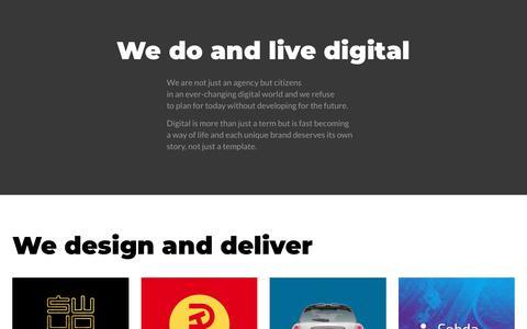 Screenshot of Home Page bearonunicycle.com - Bear On Unicycle digital design agency - captured Aug. 1, 2018