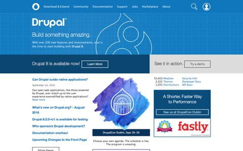 Drupal - Open Source CMS | Drupal.org