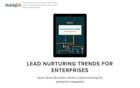 Screenshot of Landing Page hubspot.com - Lead Nurturing Trends - captured June 2, 2016
