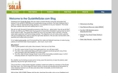 Screenshot of Blog guidemesolar.com - Solar-blog - Guide Me Solar - captured Oct. 3, 2014