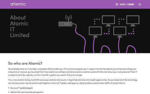 Screenshot of About Page atomic.co.uk - About Atomic IT Limited   Atomic IT Limited - captured July 6, 2018