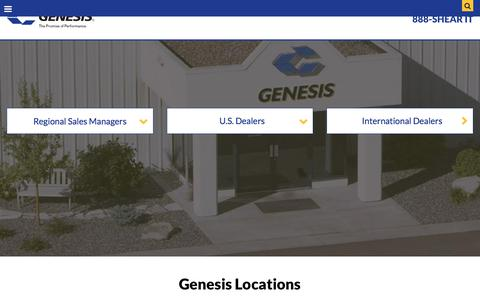 Screenshot of Locations Page genesisattachments.com - Where to Purchase | Genesis Attachments - captured Sept. 22, 2018