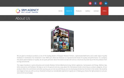 Screenshot of About Page srmagency.in - About | SRM Agency - captured Sept. 30, 2014