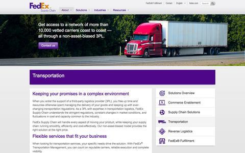 Transportation - FedEx Supply Chain