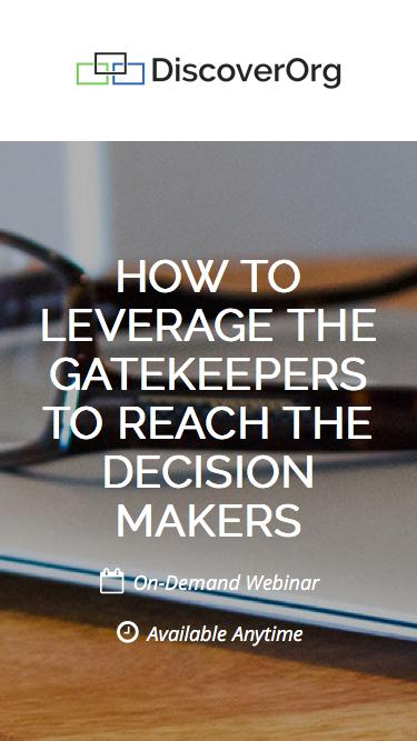 How to Leverage the Gatekeepers