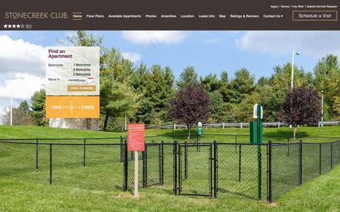 Screenshot of Home Page stonecreekclub.com - Stonecreek Club Apartment Homes | Germantown, MD | Home - captured Jan. 22, 2016