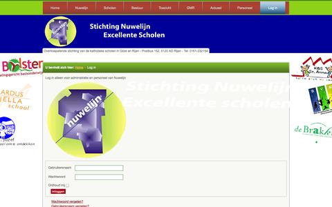Screenshot of Login Page nuwelijn.nl - Log in - Stichting Nuwelijn - Gilze-Rijen - captured Oct. 3, 2014