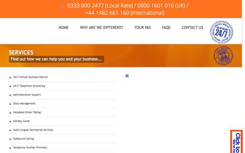 Screenshot of Services Page night-and-day-pa.co.uk - Services   Find out how we can help you and your business...   - captured Oct. 26, 2014