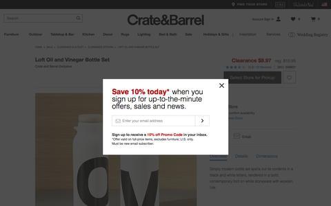 Loft Oil and Vinegar Bottle Set   Crate and Barrel