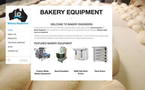 Screenshot of Home Page Login Page bakeryengineers.com.au - Bakery Equipment Sydney - captured Oct. 5, 2014