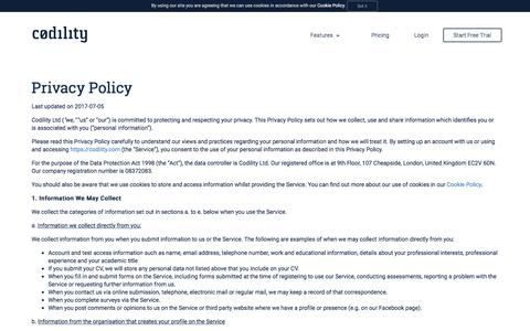 Privacy policy - Codility