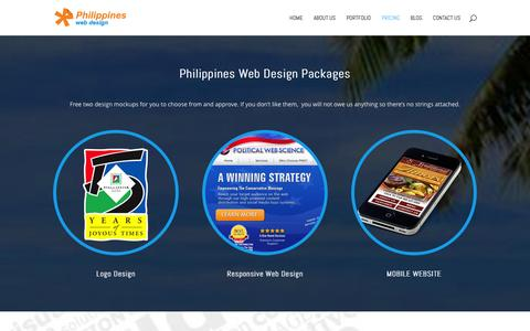 Screenshot of Pricing Page philippines-web-design.com - Philippines Web Design Packages | Philippines Web Design - captured Jan. 28, 2016
