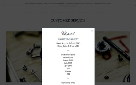 Screenshot of Support Page chopard.com - Chopard Official Website | Customer Service - captured July 17, 2018