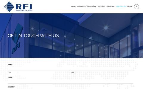 Screenshot of Contact Page rfi.com.au - RFI » CONTACT - captured Dec. 2, 2016
