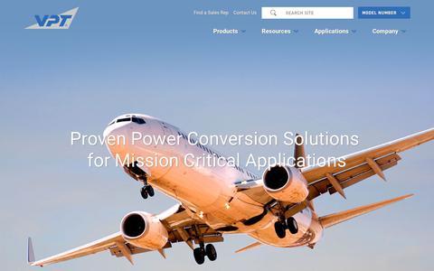 Screenshot of Home Page vptpower.com - Home | VPT, Inc. - captured Nov. 15, 2018