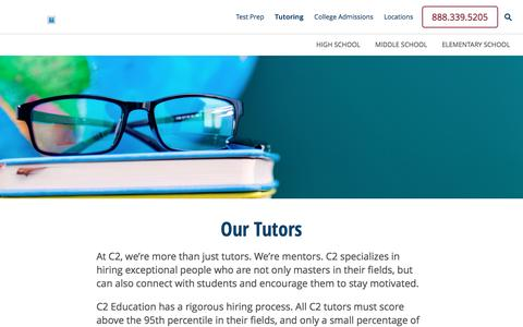 Screenshot of c2educate.com - Improve Your Grades With K-12 Tutoring | C2 Education - captured March 18, 2017