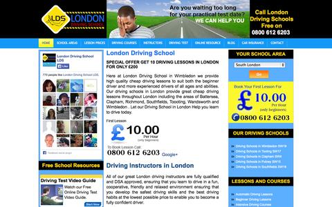 Screenshot of Home Page london-driving-school.co.uk - 1st DRIVING LESSON £9.99 - LONDON DRIVING SCHOOL - captured Jan. 23, 2015