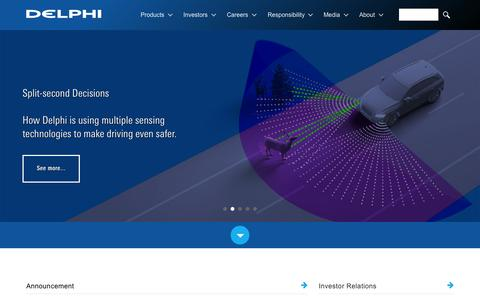 Screenshot of Home Page delphi.com - Delphi Automotive is a global supplier of vehicle technology. - captured Oct. 1, 2015