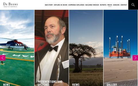 Screenshot of Press Page debeersgroup.com - Media - De Beers Group - captured March 12, 2017