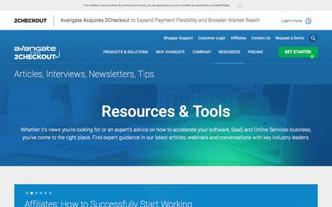 Screenshot of avangate.com - Software News   Commerce Resources   eCommerce Trends - captured April 7, 2017
