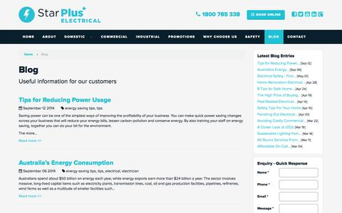Screenshot of Blog starpluselectrical.com.au - Blog | Star Plus Electrical - captured Oct. 7, 2014