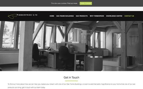 Screenshot of Contact Page timberpride.co.uk - Contact - Timberpride - captured Sept. 21, 2018
