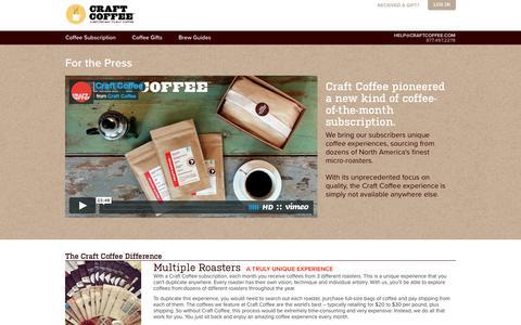 Screenshot of Press Page craftcoffee.com - Press | Craft Coffee - captured Feb. 2, 2017