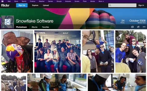 Screenshot of Flickr Page flickr.com - Flickr: Snowflake Software's Photostream - captured Oct. 26, 2014
