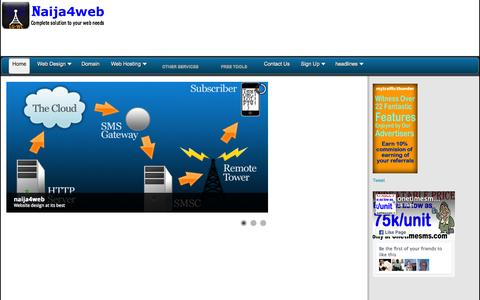 Screenshot of Home Page naija4web.com - Home - captured Nov. 17, 2015