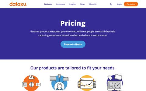 Screenshot of Pricing Page dataxu.com - dataxu pricing - captured March 2, 2019