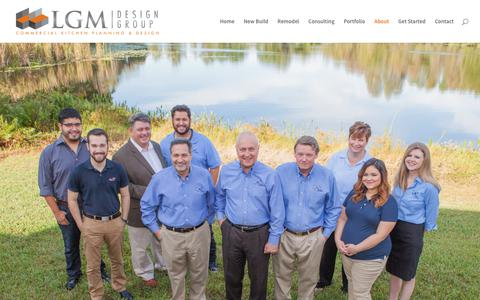 Screenshot of About Page lgmdesign.com - LGM Design Group   Meet Our Team - captured July 10, 2017
