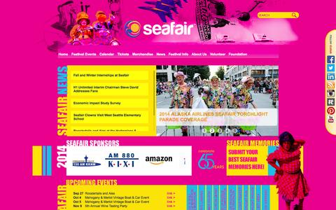 Screenshot of Press Page seafair.com - Seafair - captured Sept. 22, 2014