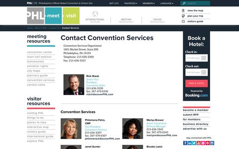 Screenshot of Services Page discoverphl.com - Contact Services - discoverPHL.com - captured Dec. 27, 2016