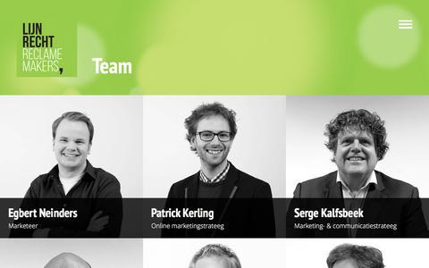 Screenshot of Team Page lijnrecht.nl - Ons team / Lijnrecht Reclamemakers - captured July 19, 2018