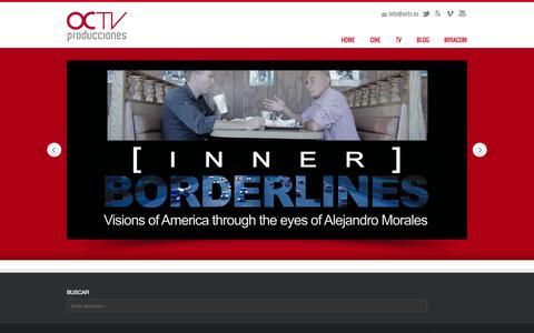 Screenshot of Home Page octv.es - OCTV producciones - captured Oct. 6, 2014
