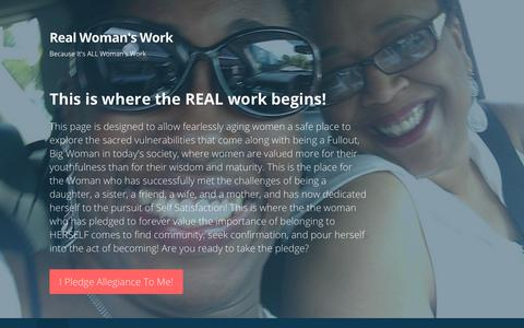 Screenshot of Home Page womansworkconsultinggroup.com - Real Woman's Work – Because It's ALL Woman's Work - captured Sept. 21, 2018