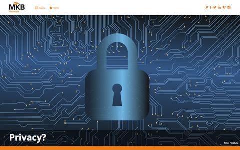 Screenshot of Privacy Page mkb.nl - Privacy? | MKB-Nederland - captured Jan. 24, 2020