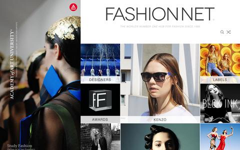 Screenshot of Home Page fashion.net - FASHION NET | this is the world of fashion - captured Oct. 15, 2015