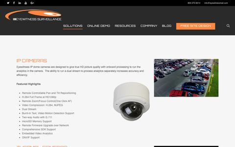 Screenshot of Products Page eyewitnesssurveillance.com - Equipment - Eyewitness Surveillance - captured July 4, 2016